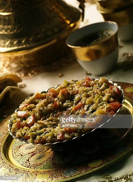 Baba Ganouj - Mezze or appetizer made of roasted Aubergines