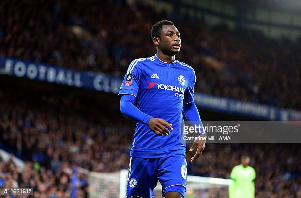 Baba Rahman of Chelsea during the Emirates FA Cup match between Chelsea and Manchester City at Stamford Bridge on February 21 2016 in London England