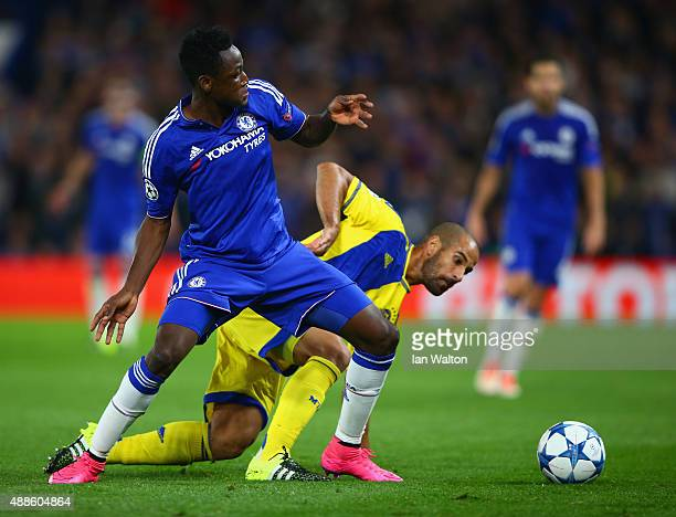 Baba Rahman of Chelsea on the ball during the UEFA Chanmpions League group G match between Chelsea and Maccabi TelAviv FC at Stamford Bridge on...