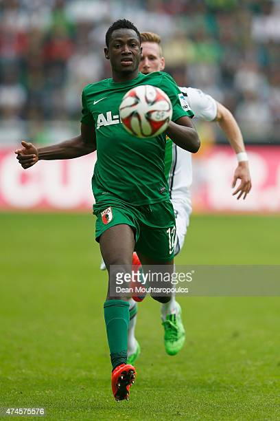 Baba Rahman of FC Augsburg in action during the Bundesliga match between Borussia Moenchengladbach and FC Augsburg held at Borussia Park Stadium on...