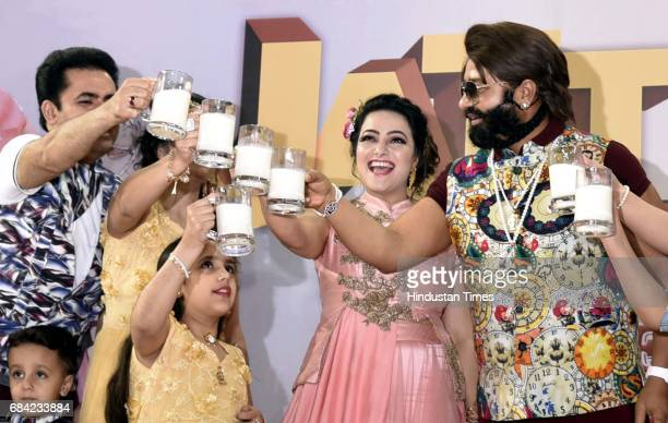 Baba Ram Rahim ji Insaan and others during the during the Cow Milk Party to appeal Prime Minister Narendra Modi to make Cow the National Animal...
