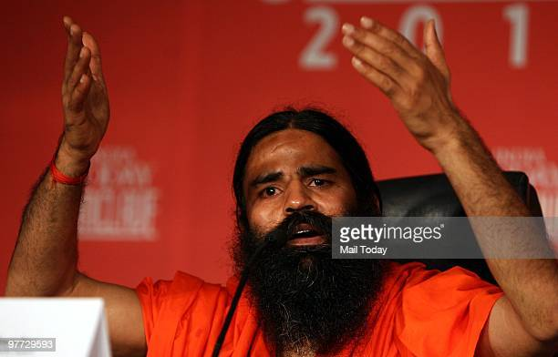 Baba Ramdev at the second day of the India Today Conclave in New Delhi on March 13 2010
