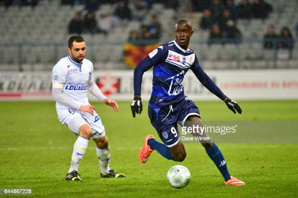 Babacar GUEYE Auxerre / Troyes 24e journee Ligue 2 Photo Dave Winter / Icon Sport