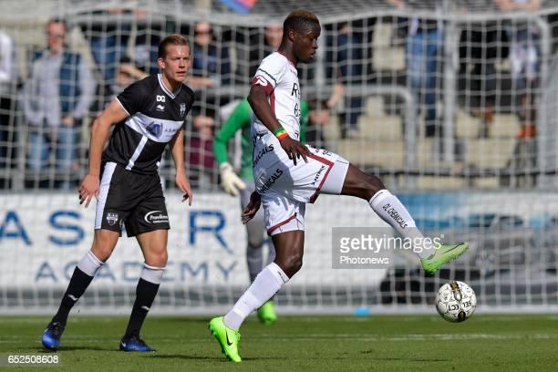 Babacar Gueye of SV Zulte Waregem during the Jupiler Pro League match between KAS Eupen and SV Zulte Waregem at the Kehrweg Stadion on march 12 2017...