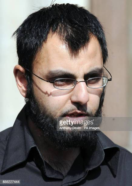 Babar Ahmad's brotherinlaw Fahad Ahmad reads out a statement on Babar's behalf outside the High Court in London after the Metropolitan Police...
