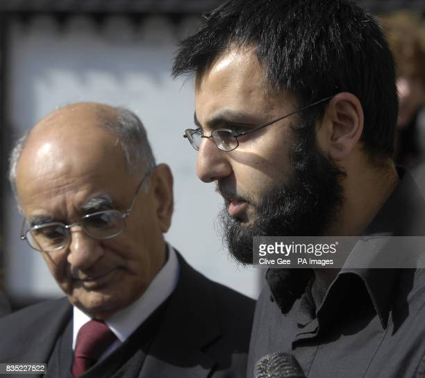 Babar Ahmad's father Ashfaq Babar and Babar's brotherinlaw Fahad Ahmad read out a statement on Babar's behalf outside the High Court in London after...