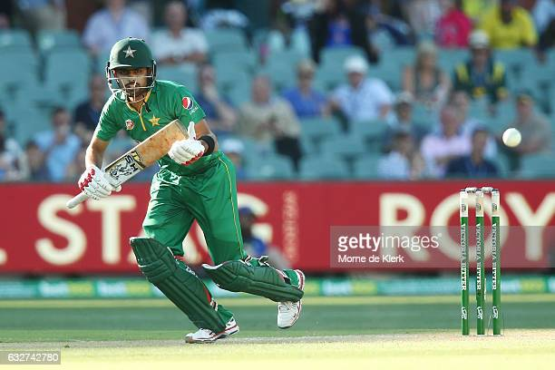 Babar Azam of Pakistan bats during game five of the One Day International series between Australia and Pakistan at Adelaide Oval on January 26 2017...