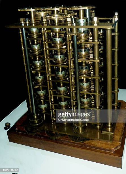 Babbage's Difference Engine No 1 1832 This trial portion of the Difference Engine is one of the earliest automatic calculators