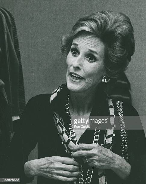 Babe Paley attends Bonwit Teller Fashion Show on September 8 1976 at Bonwit Teller in New York City