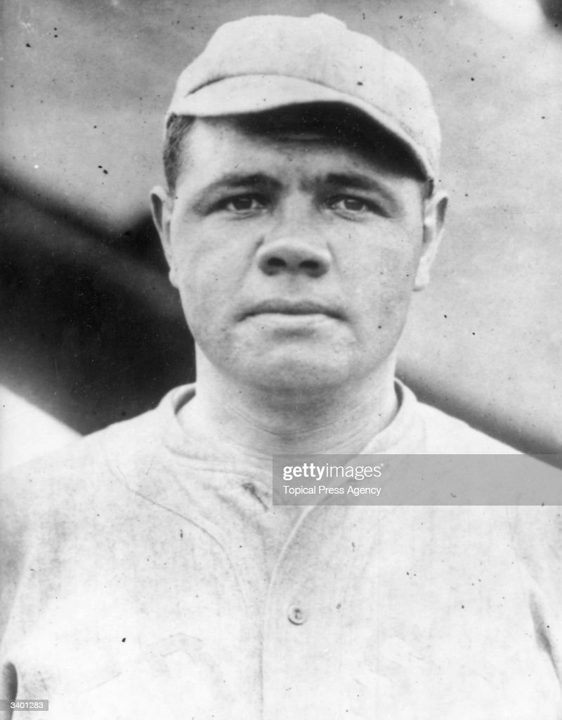 <a gi-track='captionPersonalityLinkClicked' href=/galleries/search?phrase=Babe+Ruth&family=editorial&specificpeople=94423 ng-click='$event.stopPropagation()'>Babe Ruth</a> (George Herman Ruth, 1895 - 1948) American professional baseball player for the Boston Red Sox, mid 1910s.