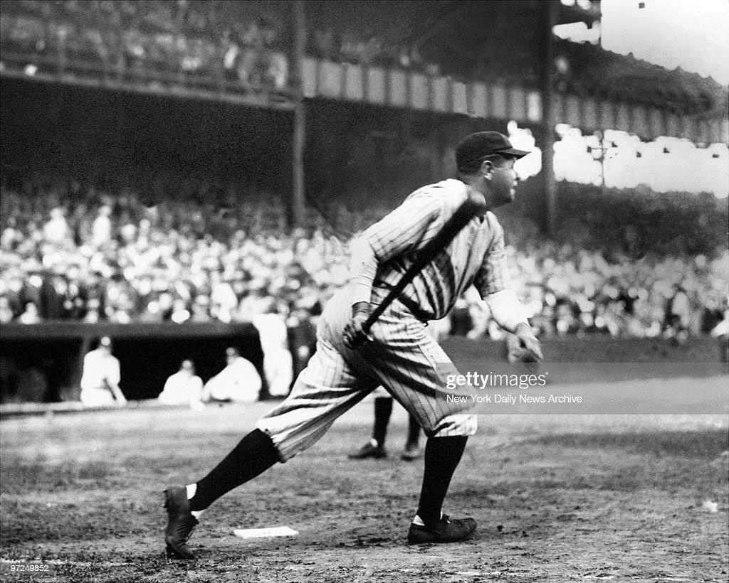 Babe Ruth batting during the 1926 season