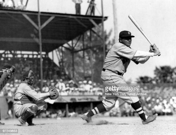 Babe Ruth batting for the Boston Braves