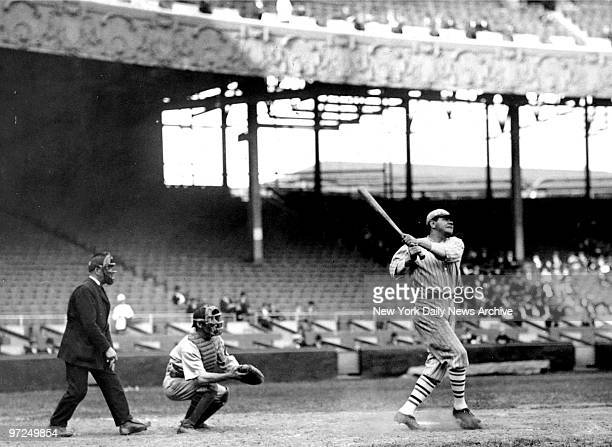 Babe Ruth batting in 1926