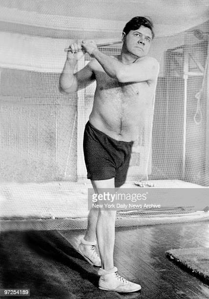 Babe Ruth familiarly known as Babe is now undergoing a very stiff period of training in a New York gym preparatory to the coming season many hours a...