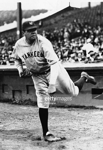 Babe Ruth in Pitching Pose