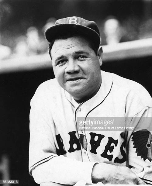 Babe Ruth of the Boston Braves poses for a portrait before a game Babe Ruth played for the Boston Braves from 1935