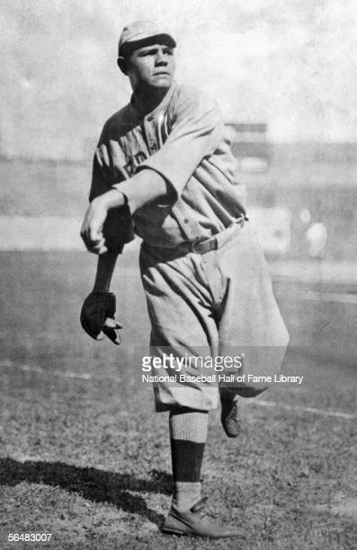 Babe Ruth of the Boston Red Sox throws the ball before a game Babe Ruth played for the Boston Red Sox from 19141919