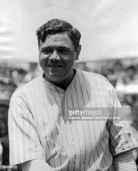 Babe Ruth of the New York Yankees poses before a game Babe Ruth played for the New York Yankees from 19201934