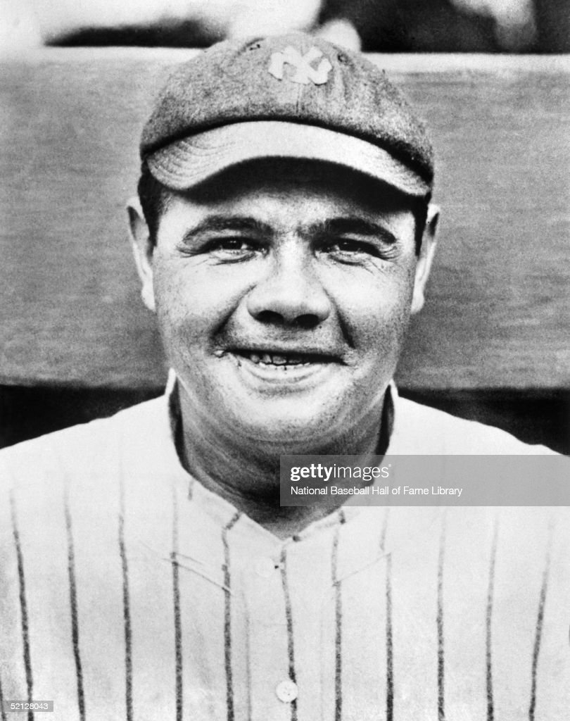 <a gi-track='captionPersonalityLinkClicked' href=/galleries/search?phrase=Babe+Ruth&family=editorial&specificpeople=94423 ng-click='$event.stopPropagation()'>Babe Ruth</a> #3 of the New York Yankees poses for a formal portrait. George Herman Ruth played for the Yankees from 1920-34.