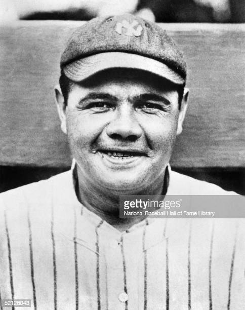 Babe Ruth of the New York Yankees poses for a formal portrait George Herman Ruth played for the Yankees from 192034
