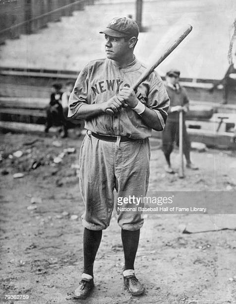 Babe Ruth of the New York Yankees poses for a photo circa 19201934