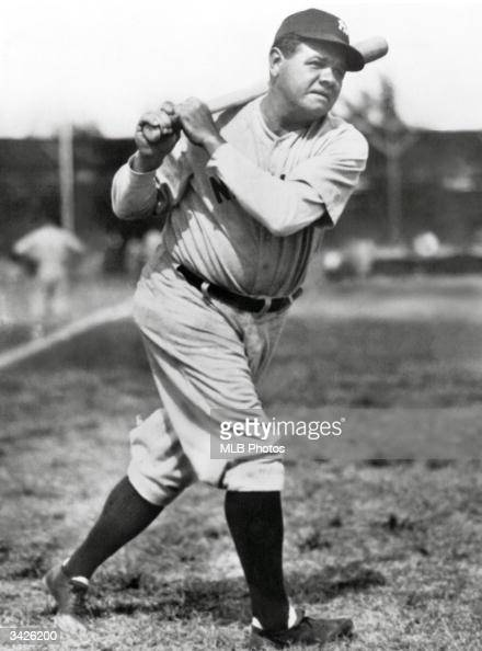 Babe Ruth of the New York Yankees poses for a portrait circa 192034 Ruth was born on Fenruary 6 1895 and died on August 16 1948