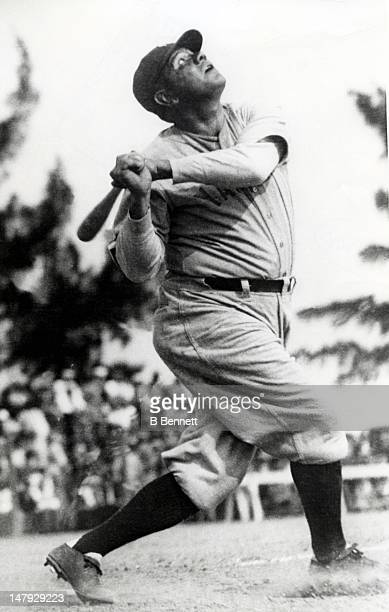 Babe Ruth of the New York Yankees swings at a pitch circa 1929