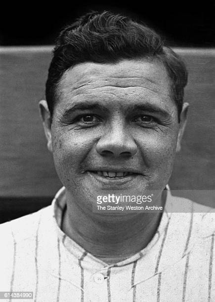 Babe Ruth poses for the camera circa 1927