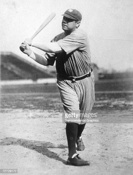 ST PETERSBURG MARCH 1928 Babe Ruth takes a cut at the Yankees' spring training complex at St Petersburg Florida in March of 1928