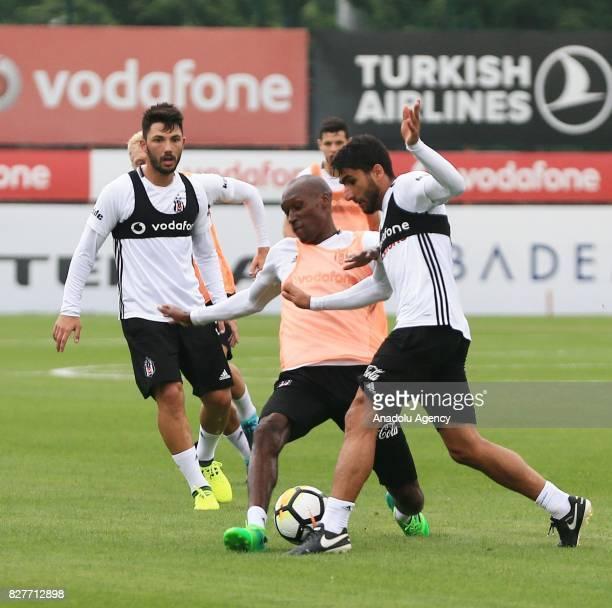 Babel of Besiktas attends a training session ahead of the Turkish Spor Toto Super Lig new season match between Besiktas and Antalyaspor at Nevzat...