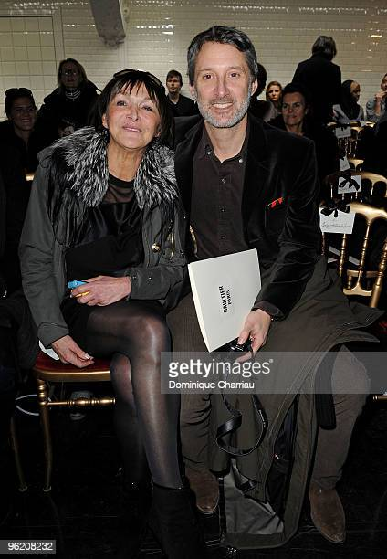 Babeth Djian and Antoine De Caunes attend JeanPaul Gaultier Haute Couture fashion show as part of the Paris Fashion Week Haute Couture S/S 2010 on...