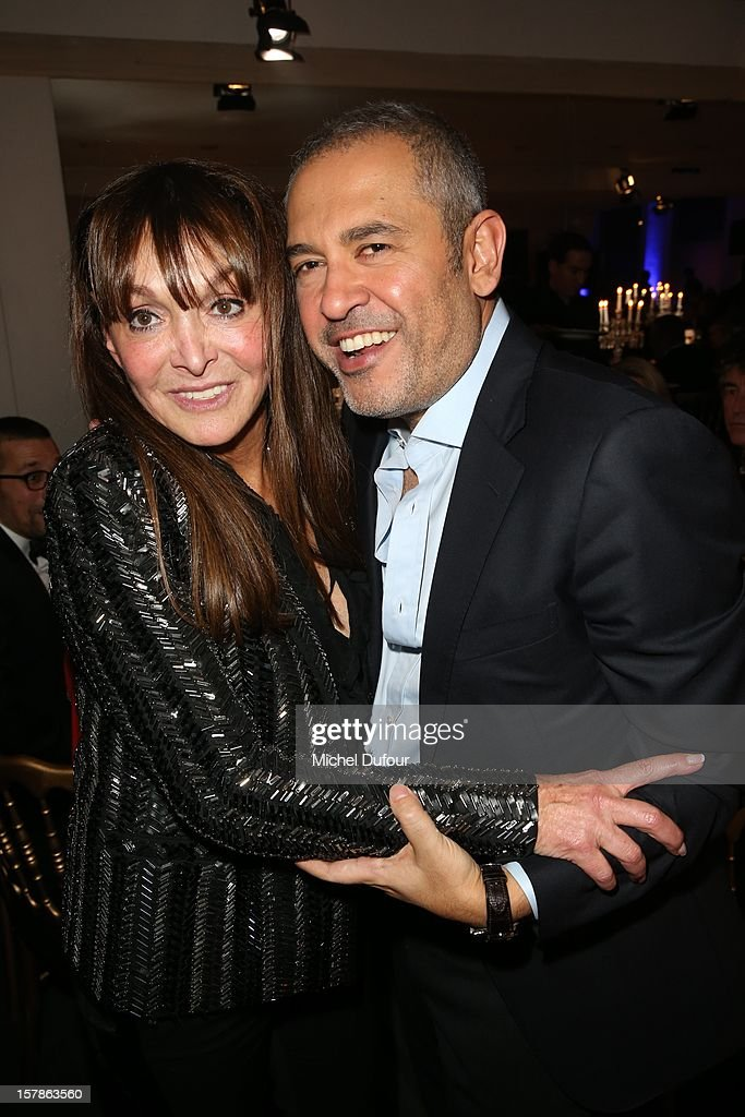 Babeth Djian and Elie Saab attend the Babeth Djian Hosts Dinner For Rwanda To The Benefit Of A.E.M. on December 6, 2012 in Paris, France.