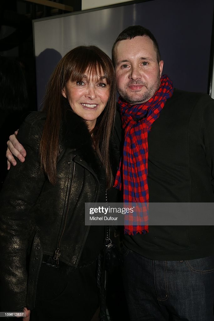 Babeth Djian and Kim Jones attend the Louis Vuitton Men Autumn / Winter 2013 show as part of Paris Fashion Week on January 17, 2013 in Paris, France.