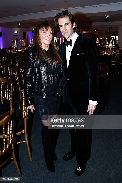 Babeth Djian and Pierre Pellegry attend the Annual Charity Dinner hosted by the AEM Association Children of the World for Rwanda Held at Espace...