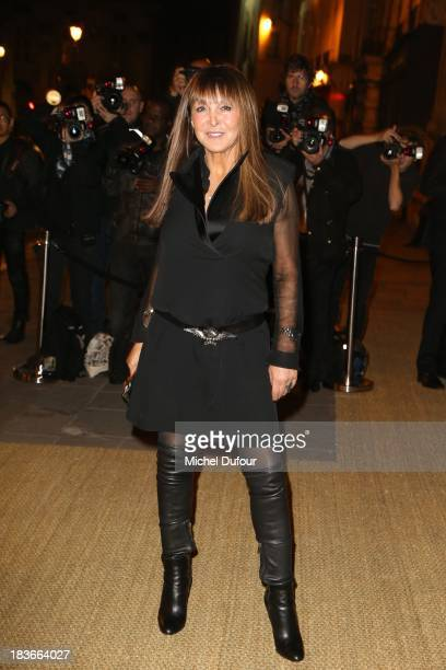 Babeth Djian arrives at a Ralph Lauren Collection Show and private dinner at Les BeauxArts de Paris on October 9 2013 in Paris France On this...