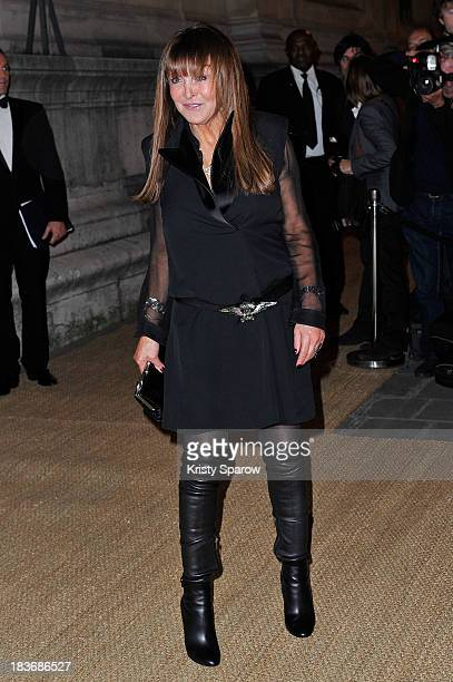 Babeth Djian arrives to the Ralph Lauren Collection Show and private dinner at Les BeauxArts de Paris on October 8 2013 in Paris France On this...