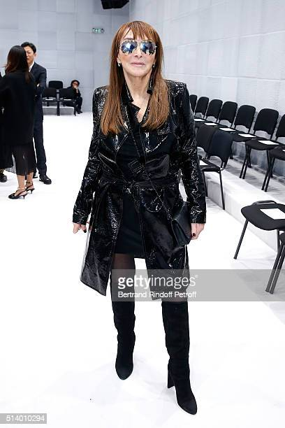 Babeth Djian attends the Balenciaga show as part of the Paris Fashion Week Womenswear Fall/Winter 2016/2017 on March 6 2016 in Paris France