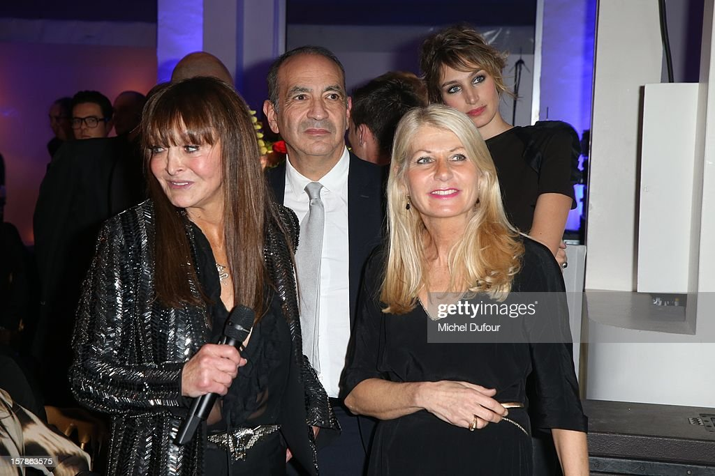 Babeth Djian, Doctor Valensi and wife Laurence attend the Babeth Djian Hosts Dinner For Rwanda To The Benefit Of A.E.M. on December 6, 2012 in Paris, France.