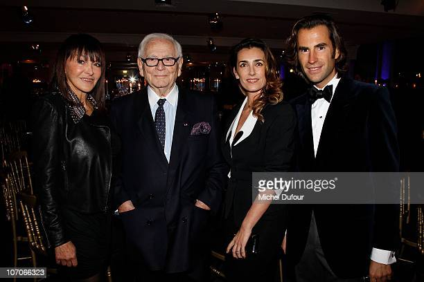 Babeth Djian Pierre Cardin Melle Agnes and Jean Pascal Hesse attend the Babeth Djian Charity Dinner for AEM Rwanda at Espace Cardin on November 21...