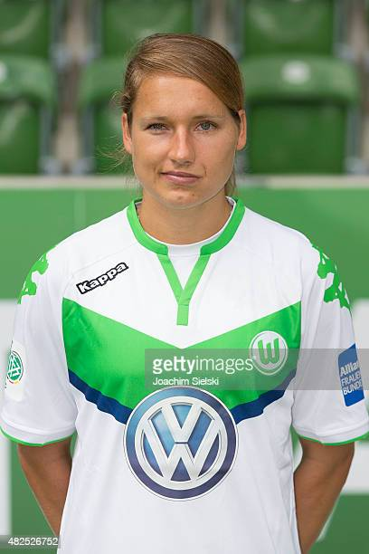 Babett Peter during the VfL Wolfsburg Women's team presentation on July 31 2015 in Wolfsburg Germany