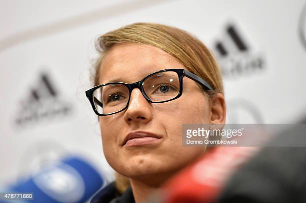Babett Peter of Germany attends a press conference at Montreal Convention Centre on June 27 2015 in Montreal Canada