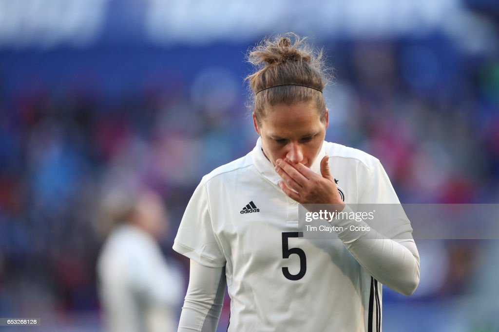 Babett Peter #5 of Germany during the France Vs Germany SheBelieves Cup International match at Red Bull Arena on March 4, 2017 in Harrison, New Jersey.