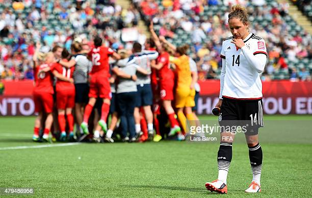 Babett Peter of Germany looks dejected after loosing the FIFA Women's World Cup 2015 Third Place Playoff match between Germany and England at...