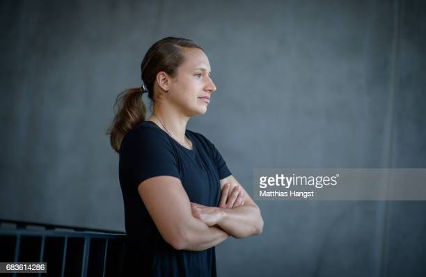 Babett Peter of germany poses for a portrait during the DFB Ladies Marketing Day at Commerzbank Arena on April 3 2017 in Frankfurt am Main Germany