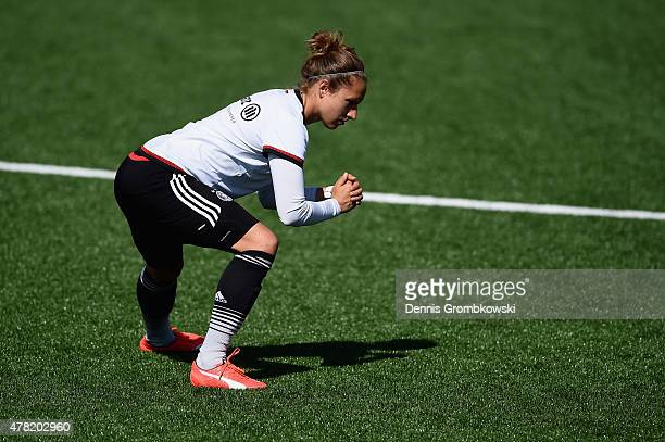 Babett Peter of Germany practices during a training session at Complexe Sportif Multi Sports on June 23 2015 in Montreal Canada