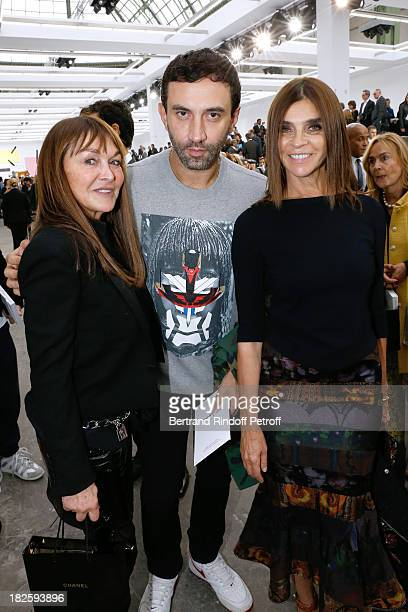 Babette Djian Stylist Givenchy Riccardo Tisci and Carine Roitfeld attend the Chanel show as part of the Paris Fashion Week Womenswear Spring/Summer...