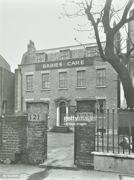 Babies Care building 121 Kennington Road Lambeth London 1950 Large Georgian detached house set back from the road