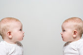 Babies face to face