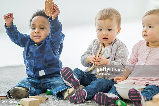 Babies Playing at Day Care