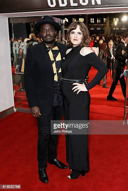 Babou and Anna Ceesay attend the 'Free Fire' Closing Night Gala screening during the 60th BFI London Film Festival at Odeon Leicester Square on...
